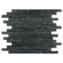 Mosaïque 30x30 cm ardoise naturelle - Sticks Black - tesselles variables