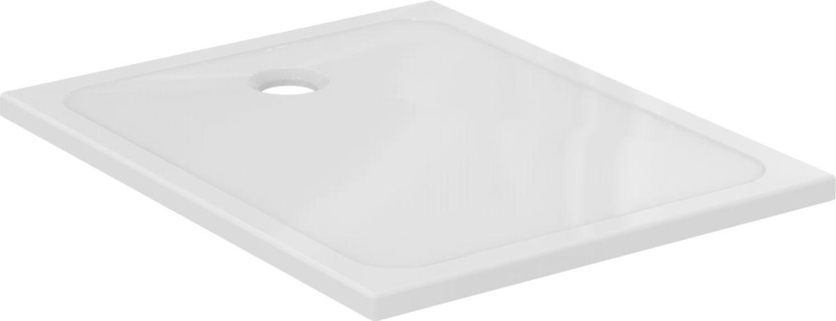 Receveur De Douche Chez Point P.Receveur Ultraplat Design Ceramique 120x90x3 8 Cm Bonde A Droite