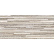 Faïence Naxos Start taupe 3D naturel 26x60,5cm 0081129