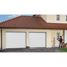 Porte de garage sectionnelle europro 700 motoris e double for Porte de garage tubauto point p