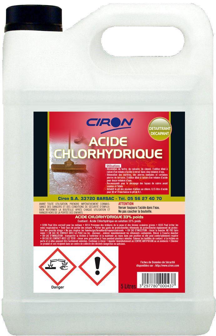 bd01b321d7d CHARBONNEAUX BRABANT - Acide chlorhydrique 23% 5 l