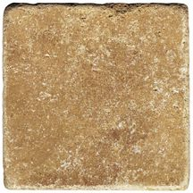 Pierre naturelle Les Pierres Eternelles travertin marron 10x10 cm �paisseur 1 cm finition vieillie
