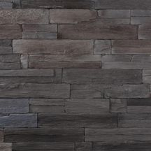 plaquette de parement mural pierre reconstitu e yosemite anthracite plaque 18x54 cm p. Black Bedroom Furniture Sets. Home Design Ideas