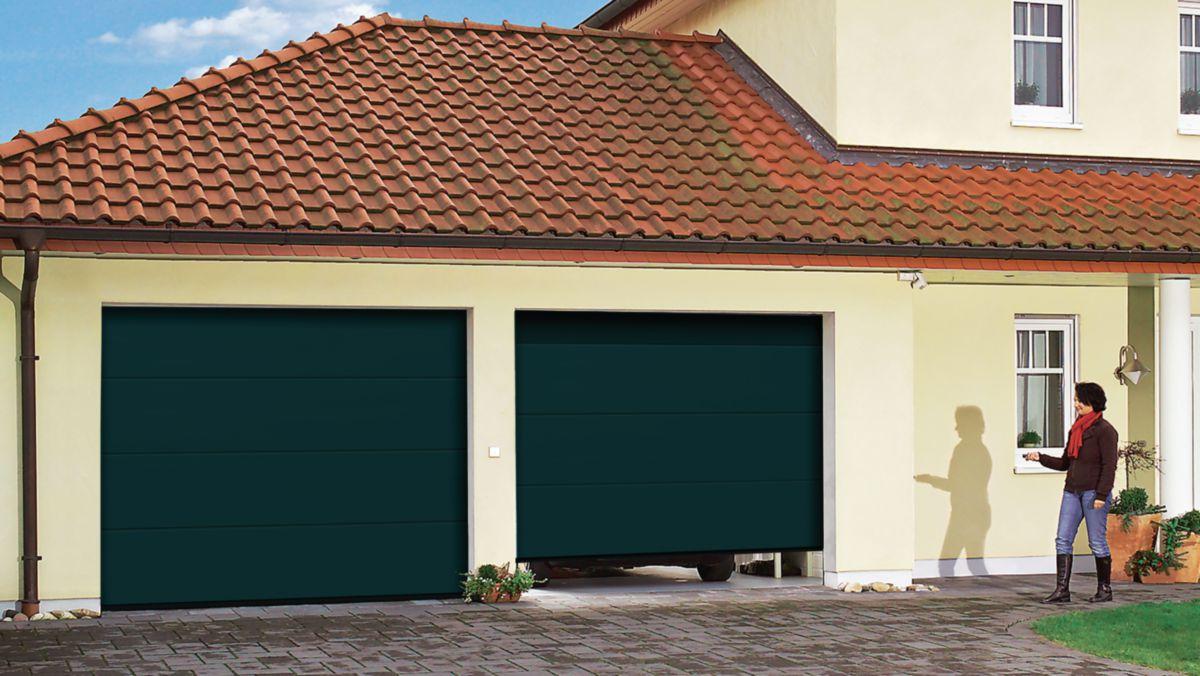 Tubauto distribution sas porte de garage sectionnelle acier pr mont e europro l 2 375 m h 2 - Porte de garage sectionnelle tubauto ...
