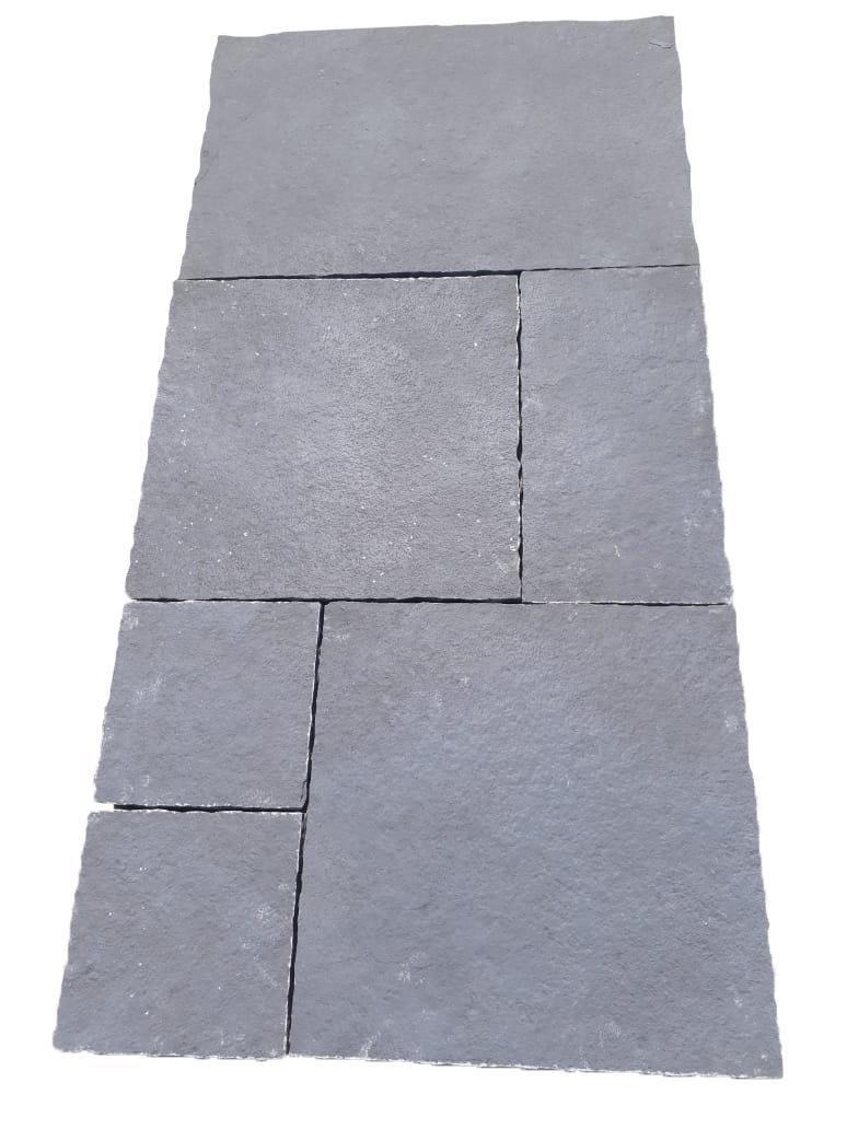 Dalle Sol Extérieur Calcaire Himalaya Grey Opus Romain 4 Formats ép 2 Cm