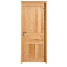 bloc porte sapin avec noeuds brut quercy h88 recouvrement pddt emball 204x73cm droite. Black Bedroom Furniture Sets. Home Design Ideas
