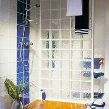 paroi salle de bain brique verre kit cubidouche n 2 en 198 nuag e incolore la roch re pour. Black Bedroom Furniture Sets. Home Design Ideas