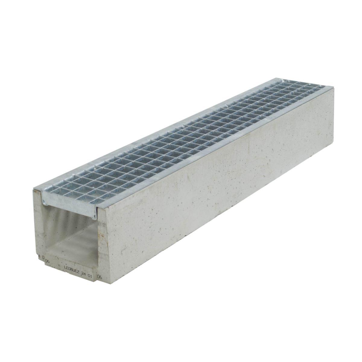 legouez caniveau b ton draineco 150 grille caillebotis. Black Bedroom Furniture Sets. Home Design Ideas