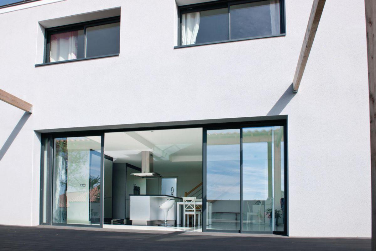 Peralu Porte Fenêtre Aluminium à Galandage Linermaster Pointp