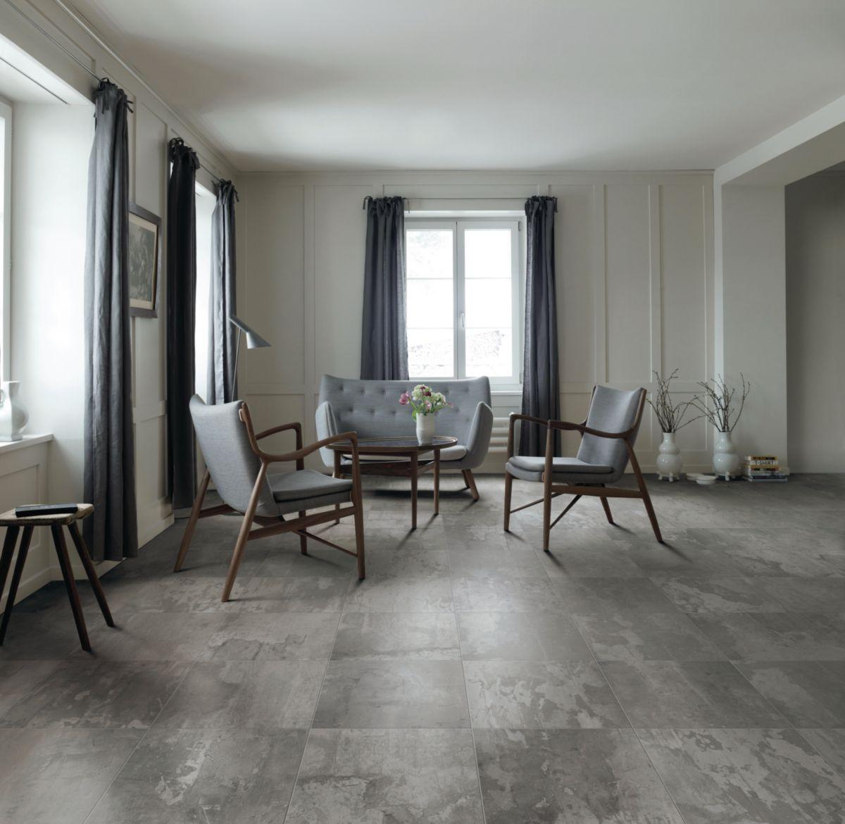 Carrelage Sol Grès Cérame Ghost Raw Grey Naturel 45x45 Cm Arte