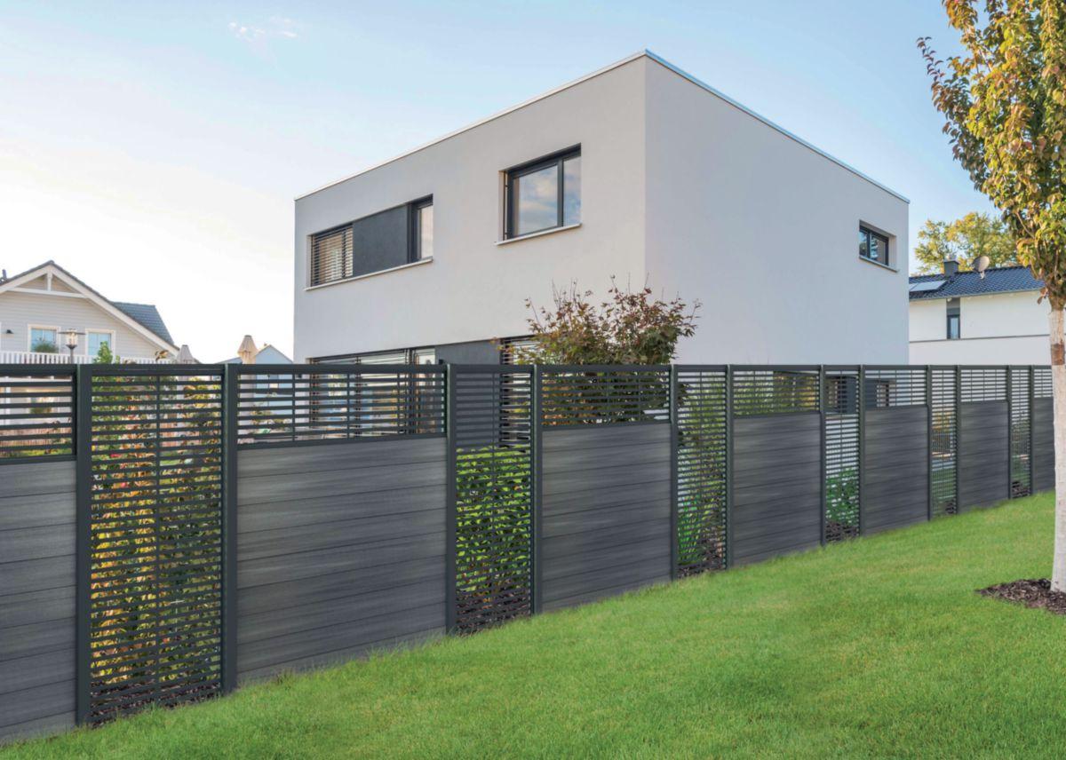 vente chaude en ligne e045b 83608 Lame bois composite clôture Pacific® gris - 24x150 mm L. 1,80 m
