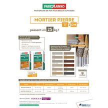 Mortier restauration de la pierre Parthena TF sac de 25kg Angers