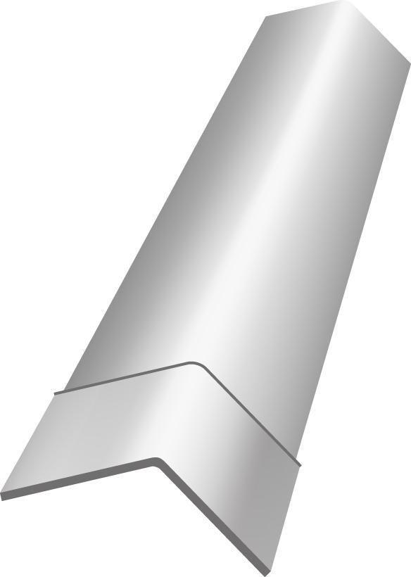 ETERNIT - Faîtière angulaire à bords plats pour plaque ondulée - angle 136° - 5 ondes - teinte ...