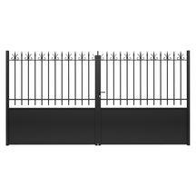portail battant fer valli res thermolaqu noir mat peindre l 3 50 m h 1 80 m. Black Bedroom Furniture Sets. Home Design Ideas