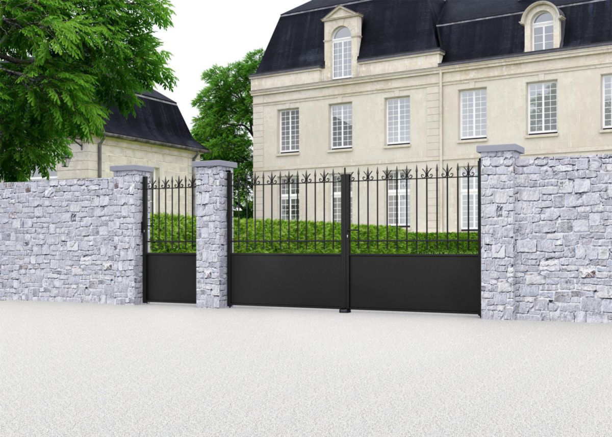 jardimat portail battant fer valli res thermolaqu. Black Bedroom Furniture Sets. Home Design Ideas