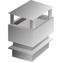 aspirateur de chemin e en b ton pour conduit 30x30 54x54x36cm gris weser gros oeuvre bpe. Black Bedroom Furniture Sets. Home Design Ideas