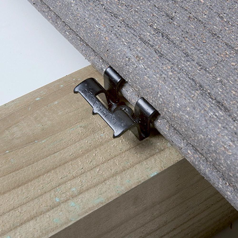 fiberdeck clip de fixation pour lame de terrasse