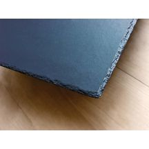 Demi-ardoise fibre ciment couverture toiture rive Kergoat anthracite Eternit - 40x11,8 cm ép. 3,8 mm