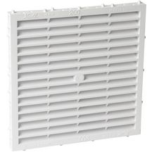 Grille a�ration sp�ciale fa�ade carr�e blanc Nicoll - 197x197 mm