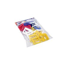 Assortiment de cales fourchettes - 5 formats - 33x40 mm - sachet de 50 pcs