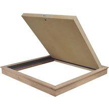 trappe de visite bois coupe feu 1 2h mur 300x300x43mm. Black Bedroom Furniture Sets. Home Design Ideas