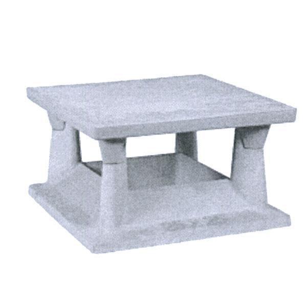 Chapeau chemin e b ton point p rev tements modernes du toit - Chapeau de cheminee en beton ...
