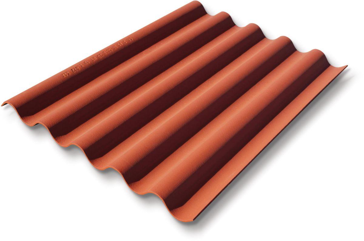 ETERNIT - Plaque fibre ciment couverture bardage Coloronde 5 ondes Plaque Ondulée 177x51 FR ...