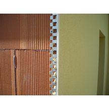 corni re angle perfor e acier galvanis jonc pvc blanc l 2 25 m p enduit 10 mm protektor. Black Bedroom Furniture Sets. Home Design Ideas