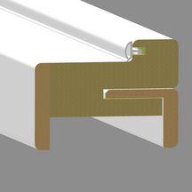 bloc porte huisserie pose fin de chantier griff inox laqu 233 blanc jeld wen 204x73 cm poussant