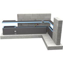 panneau de construction carreler wedi 2500x600x40 mm wedi d coration int rieure. Black Bedroom Furniture Sets. Home Design Ideas