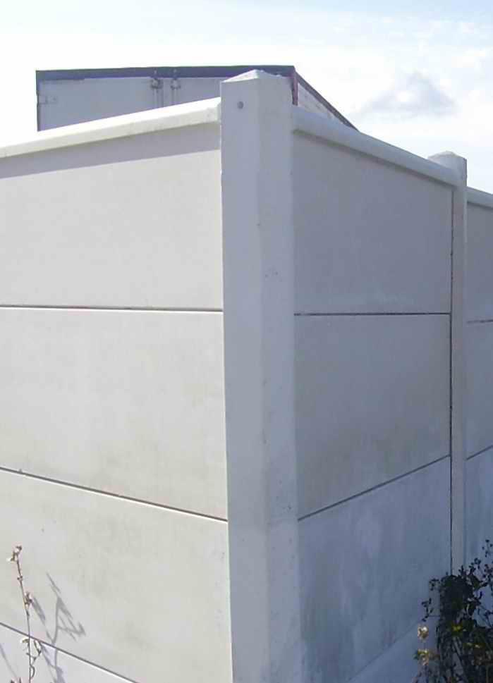 Clotures Nicolas Poteau D Angle Feuillure Totale Beton Gris 250x12x12 Cm Point P
