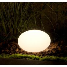 Eclairage ext�rieur PVC led multicolore Oval 28 blanc - 1,5 W 12 V 300x200 mm