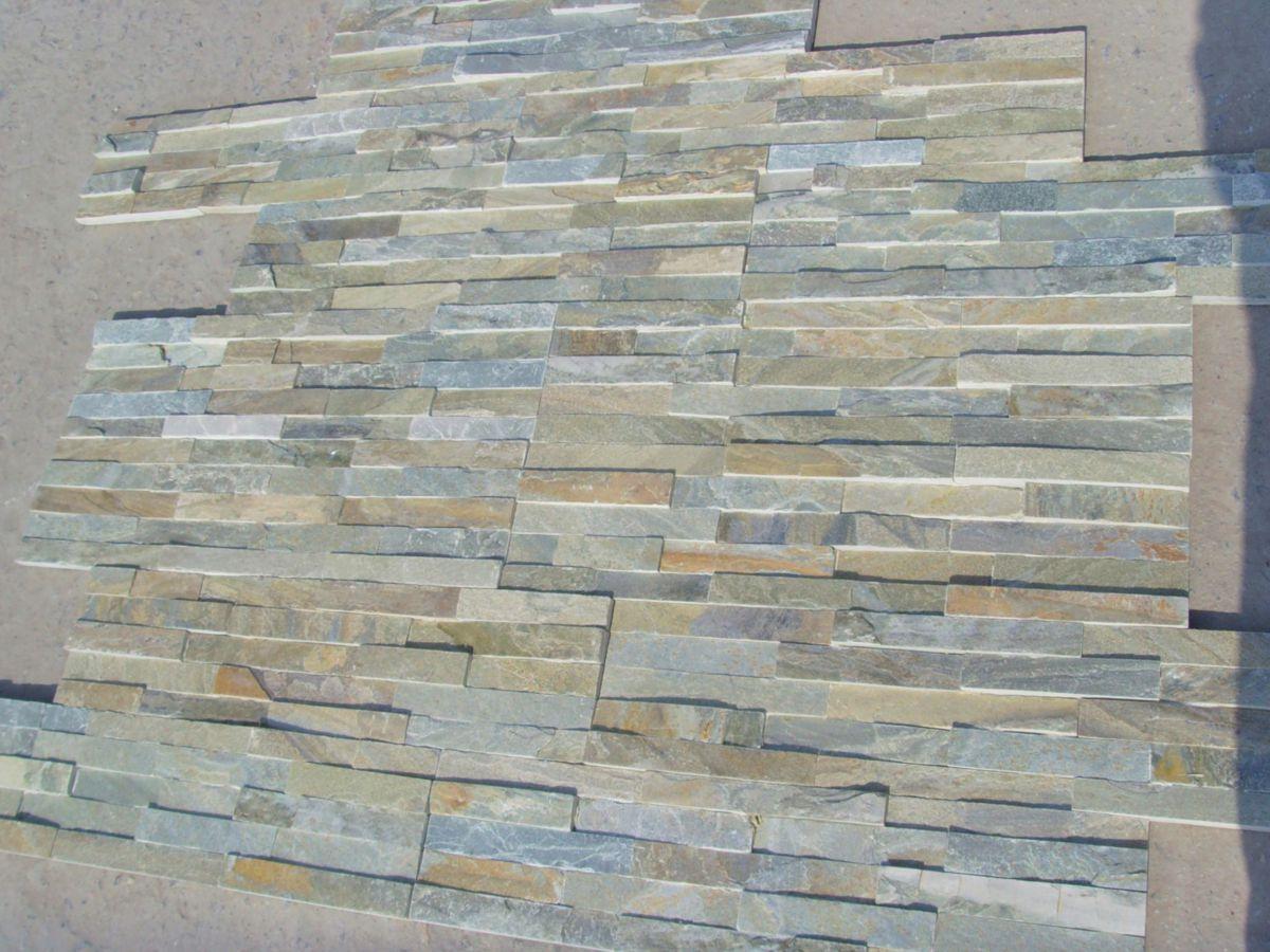 Parement Mural Intérieur Extérieur Indy Quartzite Gris Beige 15x60 Cm ép 1 3 Cm