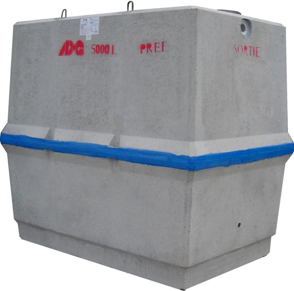 fosse septique 5000l beton