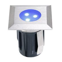 Spot encastrable inox led bleue Atria - 0,5 W 12V 42x40 mm