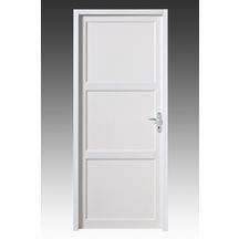 Bloc porte soca bois exotique pr peint blanc huisserie for Porte 204x63