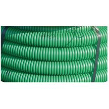Gaine TPC annelée verte - Ø nominal 40 mm - couronne de 50 m