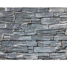 plaquette de parement mural pierre naturelle ilos ardoise noire 15x55 cm p 2 5 3 5 cm. Black Bedroom Furniture Sets. Home Design Ideas