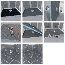 receveur carr fundo primo wedi coulement centr sans vidage 900x900x40 mm wedi outillage. Black Bedroom Furniture Sets. Home Design Ideas