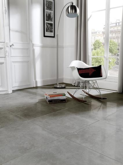 Carrelage Sol Gres Cerame Emaille Electra Gris Lappato Rectifie 59