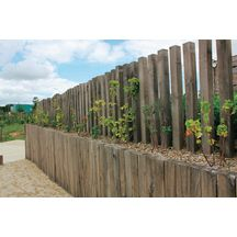 Traverse paysag�re ch�ne trait� CL 4 France Bois Impr�gn�s - 12x200 mm L. 2,60 m