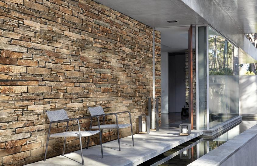 Parement Mural Interieur Exterieur Ilos Quartzite Jaune 15x55 Cm Ep 2 5 3 5 Cm
