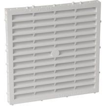 Grille a�ration sp�ciale fa�ade carr�e blanc Nicoll - 173x173 mm