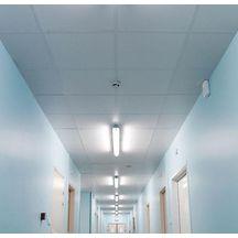 Dalle de plafond pl tre knauf iso tone hygi ne blanc for Materiel plafond suspendu