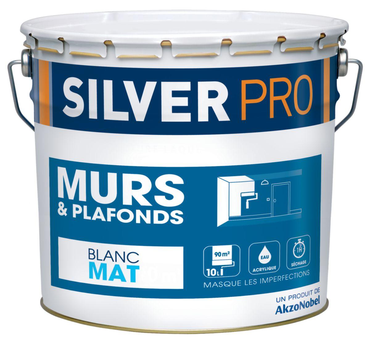 Peinture acrylique mat cheap peinture acrylique mat for Peinture mur blanc mat ou satin