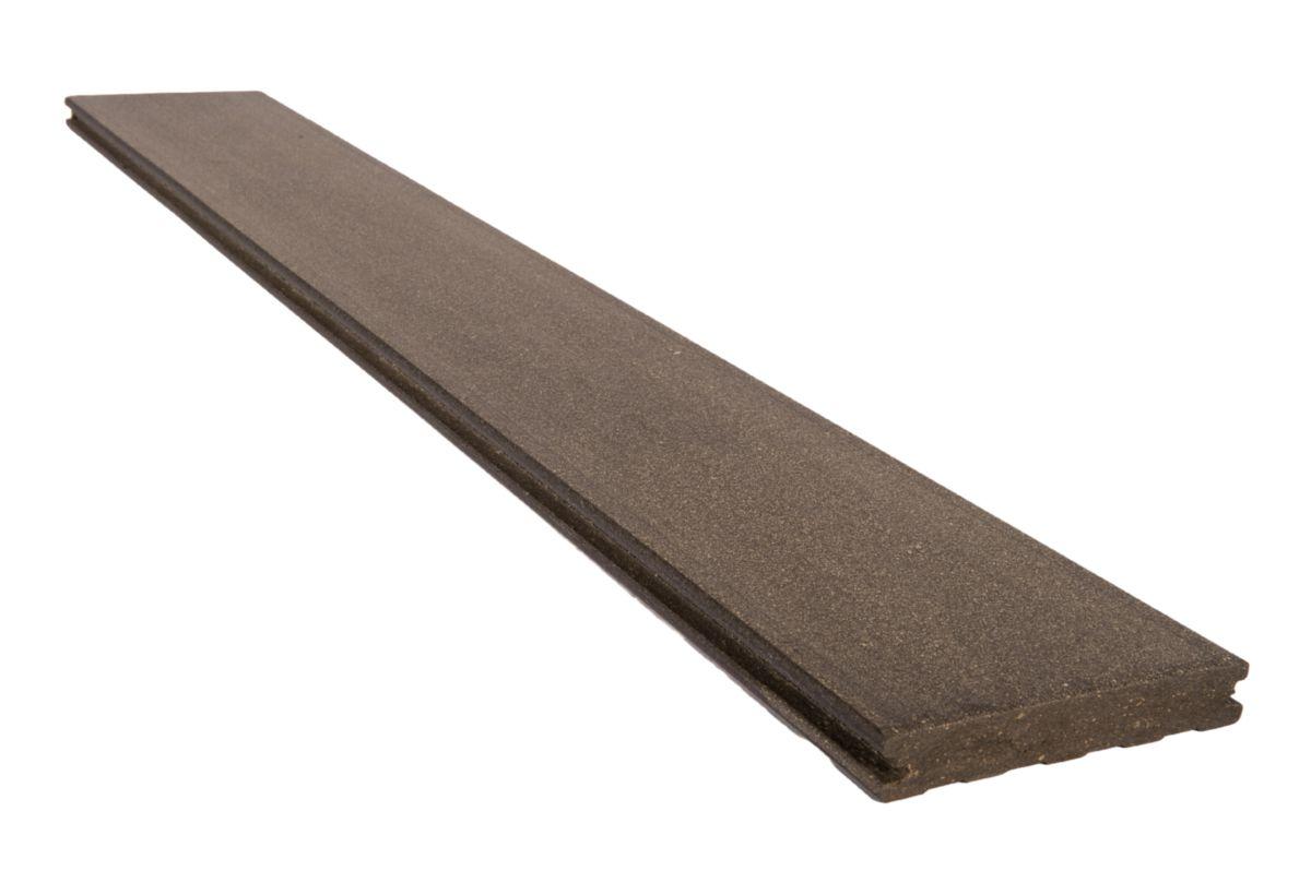 Lame de terrasse deck bois composite Forexia El gance lisse gris Point
