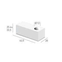 Bloc b�ton cellulaire Thermopierre d'angle TA Ytong - 625x200x250 mm r�servation � 120 mm
