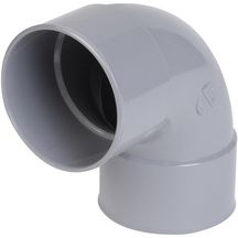 Coude simple FF 87°30 PVC gris Nicoll - Ø 75 mm