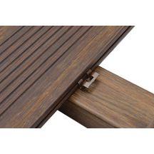 Clip lame de terrasse bambou brun sachet de 90 clips - Lame de terrasse point p ...