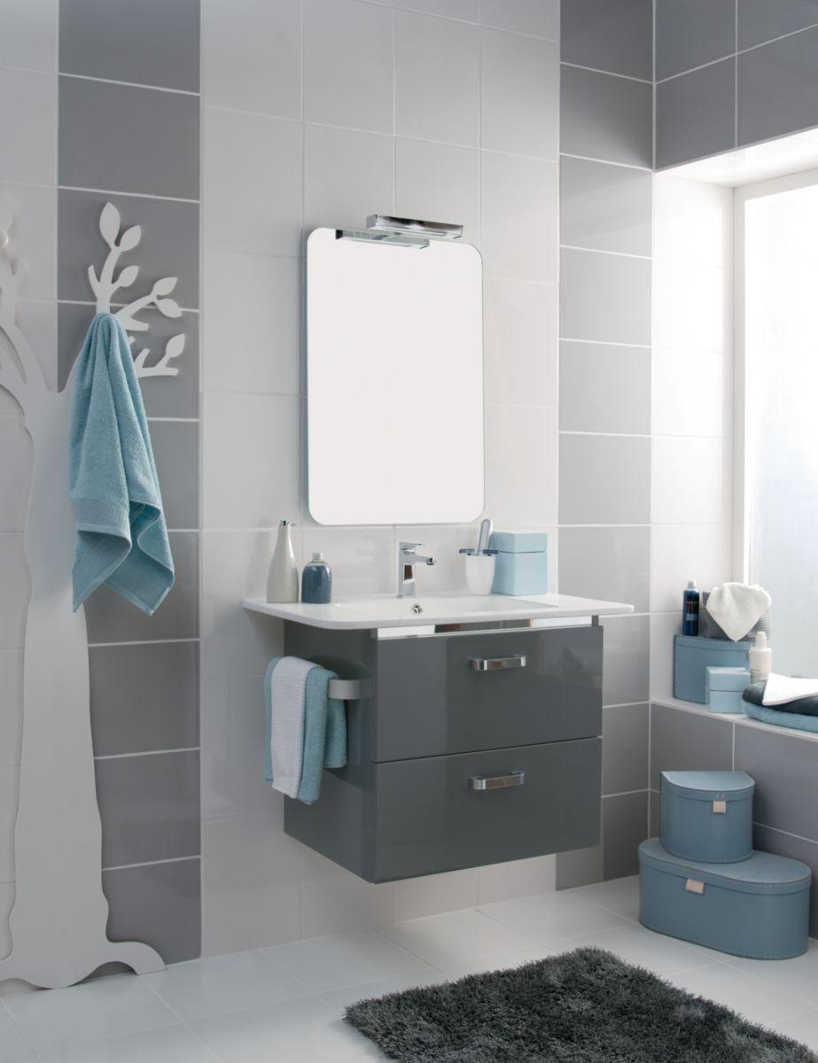 Arte one carrelage mural int rieur fa ence envy blanc - Autocollant carrelage salle de bain ...